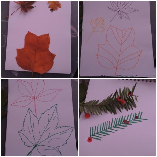 colaj frunze desen